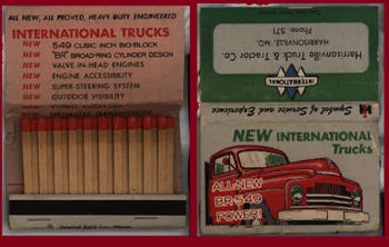 International Harvester Matchbook